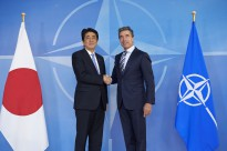 The Prime Minister of Japan visits NATO.