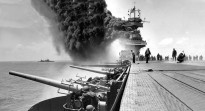 Damaged USS Yorktown (CV-5) and Astoria (CA-34) at Midway 1942. Historically, the existential threats and serious risks to Australia have come by or over the sea. The maritime supremacy established by the US at Midway in 1942 has underpinned Australia's wellbeing for most of the last century.