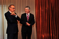 Minister for Foreign Affairs Senator Bob Carr and Minister for Defence Stephen Smith at AUSMIN 2012.
