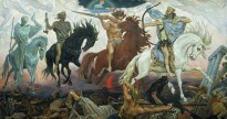 Viktor Vasnetsov's Four Horseman of the Apocalypse, painted in 1887.