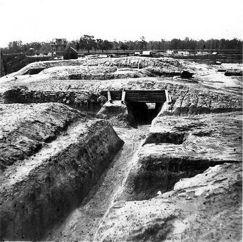 Part of the Confederate 'Howlett line' defences constructed in 1864.