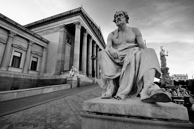 Statue of Thucydides in Vienna, Austria