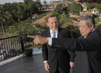 President SBY and PM Tony Abbott met this week in Batam, Riau Islands.