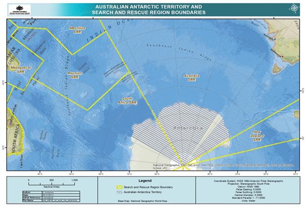 Australia's Antarctic SAR region