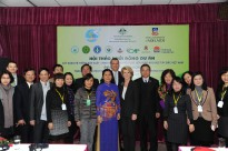 Foreign Minister Julie Bishop and President of Vietnam Women's Union Nguyen Thanh Hoa at an inception workshop for an Australian funded project to improve the profitability and sustainability of smallholder vegetable farmers in the highlands of north western Vietnam, Hanoi on 19 February 2014. Minister Bishop is expected to unveil a new international development policy next week.
