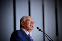 Prime Minister of Malaysia Najib Razak. Mr Najib's speech to the 28th Asia-pacific Roundtable was delivered in his absence, as he is currently in China commemorating the 40th anniversary of diplomatic relations between Malaysia and China.