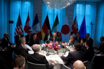 President Barack Obama holds a G7 Leaders Meeting to discuss the situation in Ukraine, at the Prime Minister's residence in The Hague, the Netherlands, March 24, 2014.