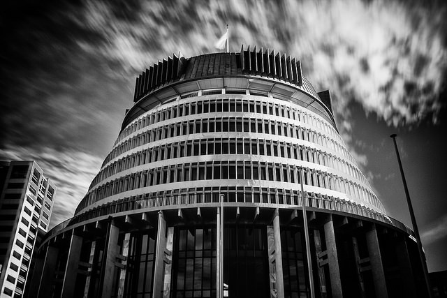 The Beehive is the common name for the Executive Wing of the New Zealand Parliament Buildings.