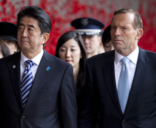 His Excellency Shinzo Abe, PM of Japan & Mrs Akie Abe visit AWM 8/7/14
