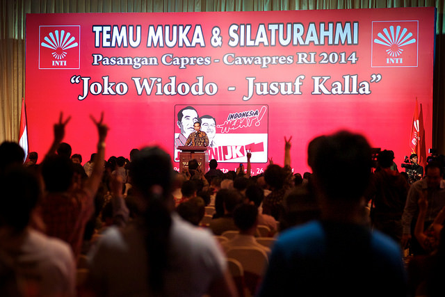 Joko Widodo at INTI (Indonesian born Chinese Association) meet and greet event, June 2014.