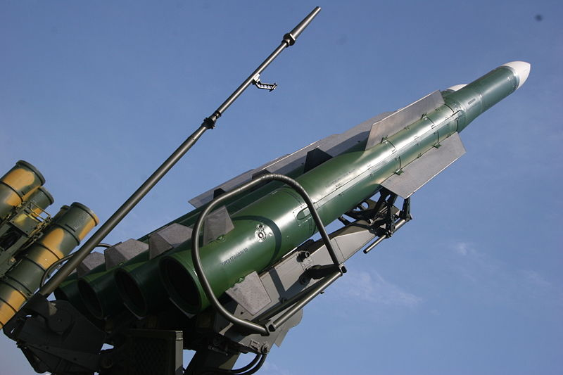 New surface-to-air missile 9M317 of 9K317 Buk-M2E at 2007 MAKS Airshow