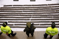 Colombian National Police seized large quantities of FARC materiel.