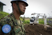 A Japanese engineer at work at the United Nations Mission in South Sudan (UNMISS), in Juba.