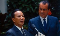 US President Richard Nixon and South Vietnamese President Ngygen Van Thieu make a joint statement to the press on Midway Island, 8 June 1969. America's deployment of military force since 1950 left Presidents Eisenhower, Nixon and Obama scrambling to adopt exit strategies for engagements that didn't achieve the objectives of military deployment and left unresolved the problems that justified the intervention in the first place.