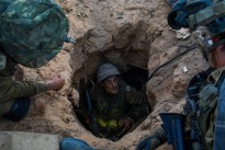 The IDF's paratroopers brigade operate within the Gaza Strip to find and disable Hamas' network of tunnels .