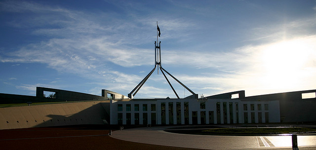 Parliament House, Canberra.