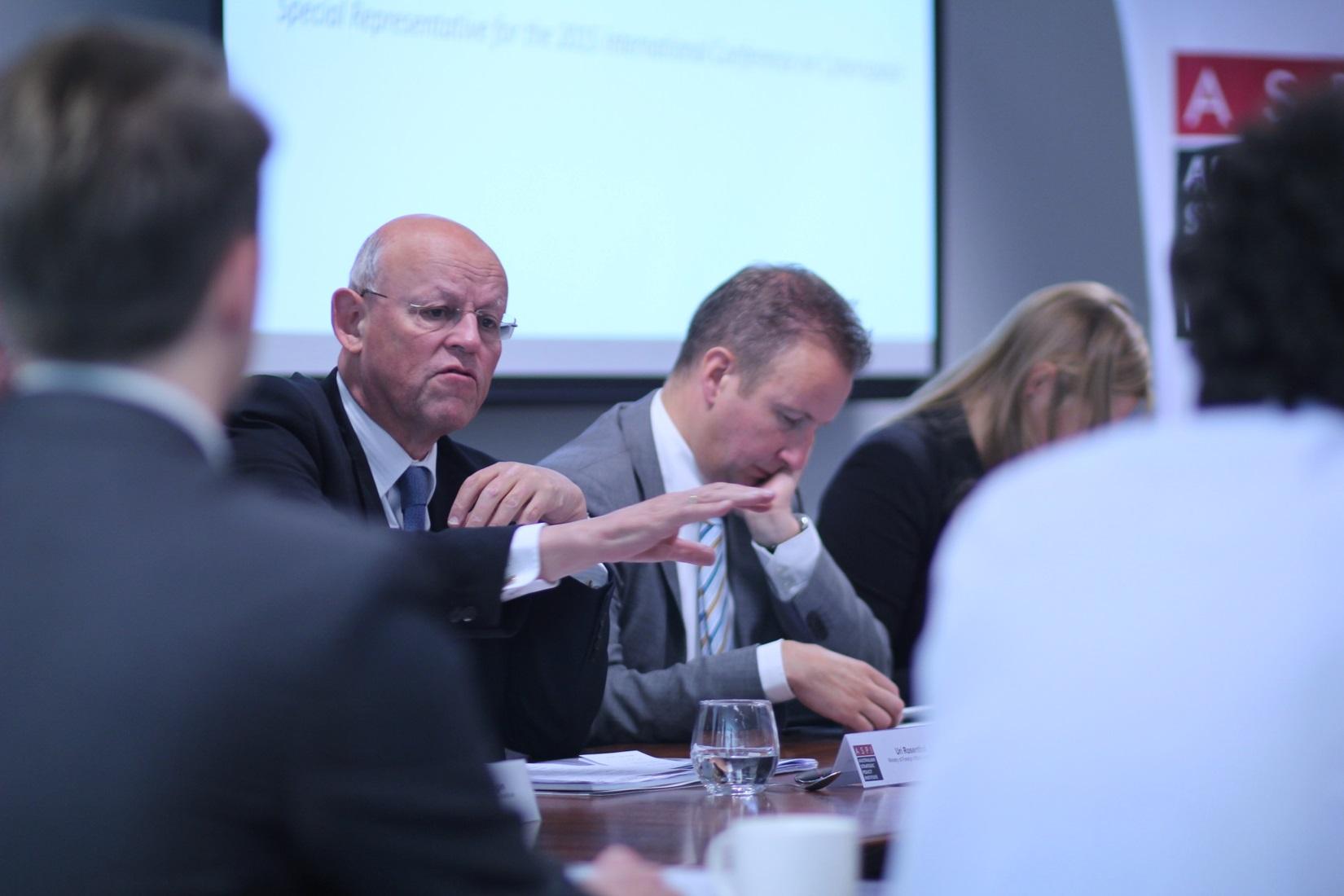 Uri Rosenthal, special envoy for the 2015 International Conference (image credit: Luke Wilson @ ASPI)