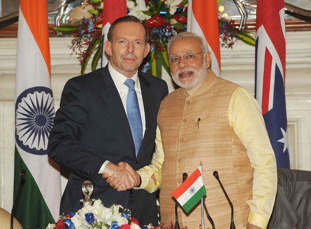The Prime Minister of Australia Mr Tony Abbott paid a State Visit to India from 4-5 September, 2014