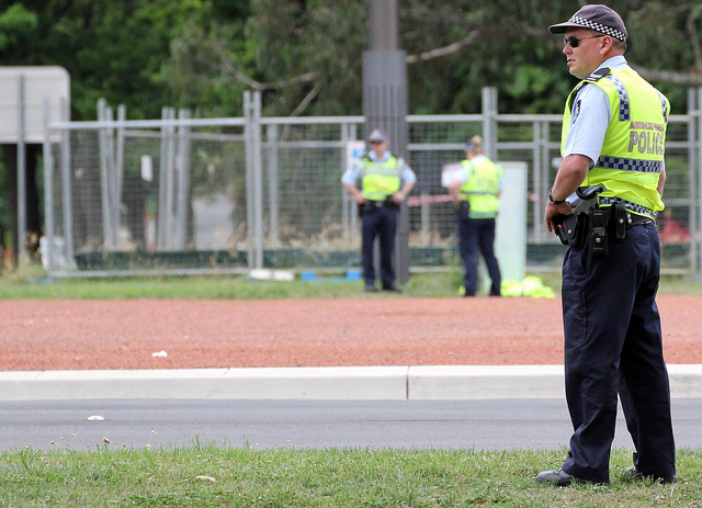 Australian Federal Police on security duty (AFP)