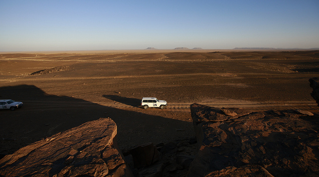 UN Team Navigates through Western Sahara
