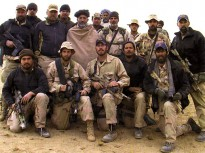 Hamid Karzai with U.S. Special Forces Operational Detachment Alpha 574 during Operation Enduring Freedom in 2001.