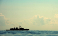 Frigate HMS Kent is pictured during counter piracy operations in the Indian Ocean.