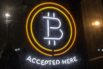 Bitcoin Logo - Bitcoin Accepted Here Neon Sign