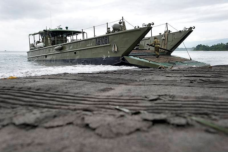 The Australian Army Landing Craft Medium is another capability that links land and sea.