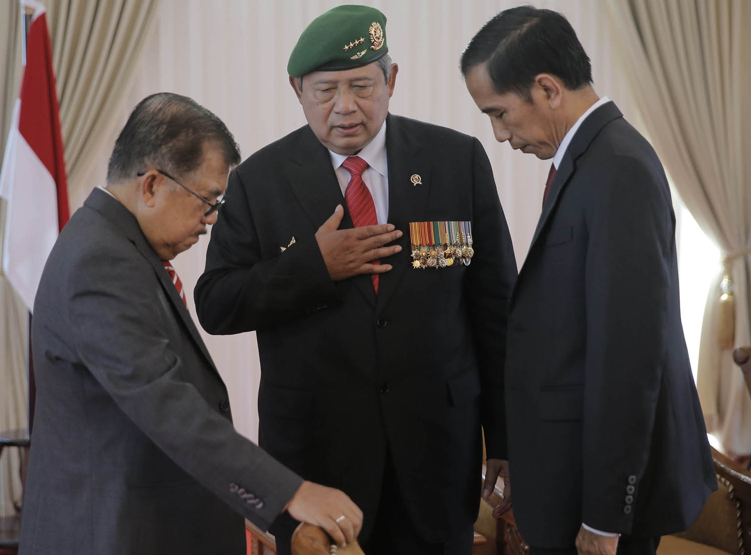 President SBY will hand over the presidency to Joko Widodo on Monday.