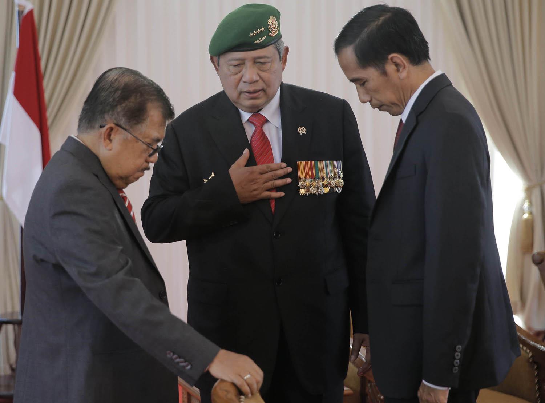 President SBY will hand over the presidency to Joko Widodo on Monday.