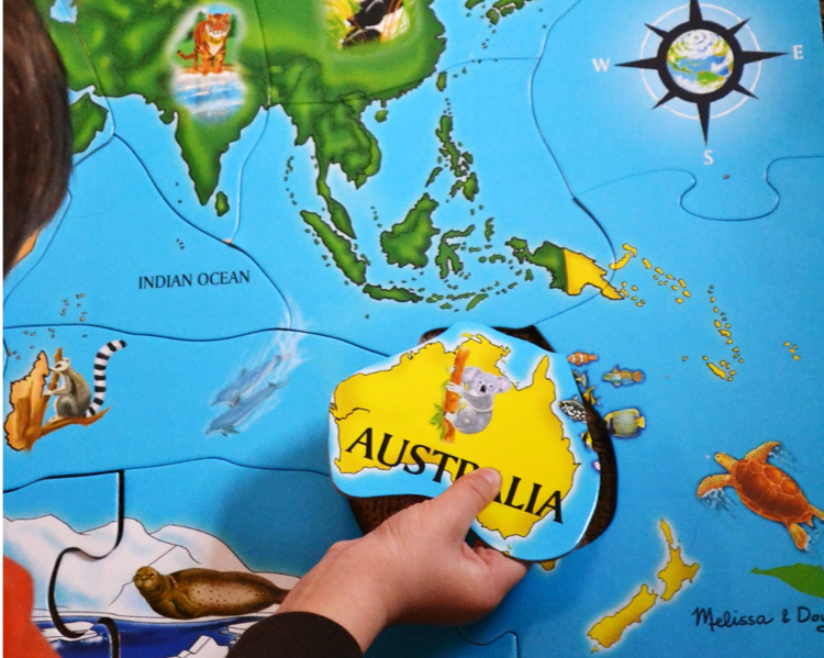 Putting Australia on the world map.