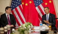 US President Barack Obama during a bilateral meeting with Chinese President Xi Jinping