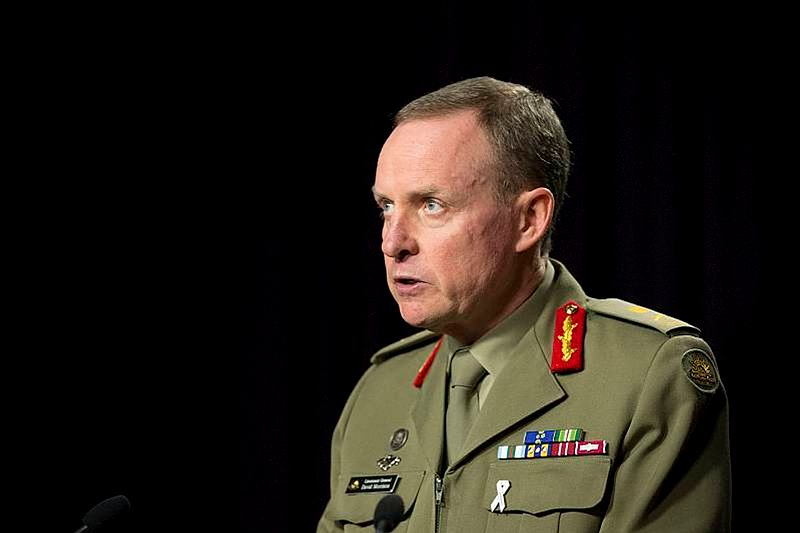 The Chief of Army, Lieutenant General David Morrison, AO, addresses the media on Thursday, 13 June 2013 in relation to civilian police and Defence investigations into allegations of unacceptable behaviour by Army members.