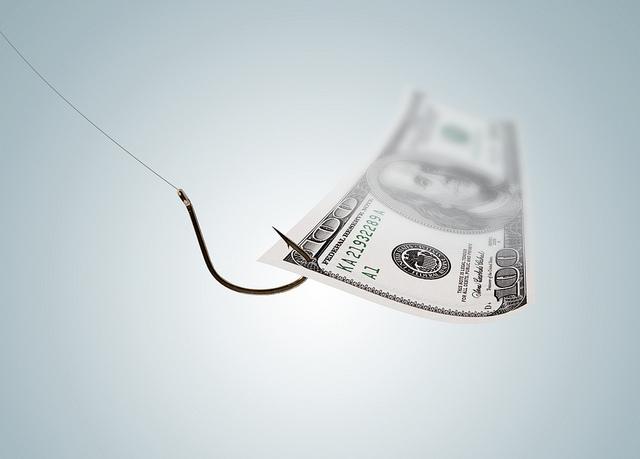 Money on a Hook