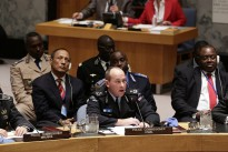Greg Hinds, Police Commissioner of the UN Mission in Liberia (UNMIL), addresses the Security Council meeting on the role of policing in peacekeeping and post-conflict peacebuilding.