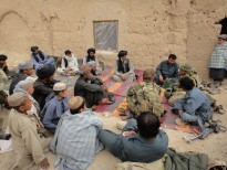 Australian Special Forces hold a shura with tribal elders to discuss security and stability issues in Uruzgan.
