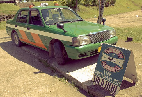 Fiji Pacific Harbour taxi.