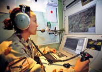 Heron detachment Payload Operator, Flight Lieutenant Zalie Munro-Rustean, in the Ground Control Station at the Heron compound at Kandahar Airfield. Due to wrap up at the end of 2014, the Heron detachment has provided high resolution intelligence, surveillance and reconnaissance (ISR) capability in support of Australian and Coalition troops. The RAAF will retain one of the detachment's Heron's, which will join the one already at Woomera.