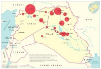 The first 100 days of airstrikes in Iraq and Syria, based on data sourced from US Central Command news releases.