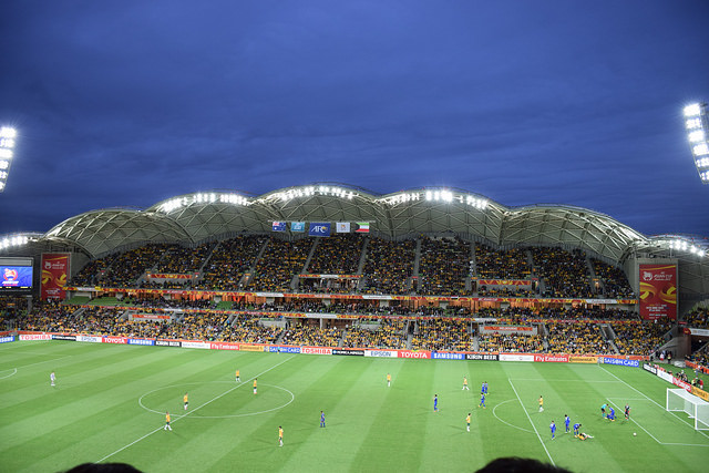 Opening game - Australia v Kuwait at Melbourne Rectangular Stadium