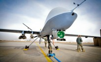 This image shows Reaper a Remotely Piloted Air System (RPAS), part of 39 Squadron Royal Air Force. The Reaper has completed 20,000 operational flight hours in theatre, and is operated from Kandahar Air Field (KAF) in Afghanistan.