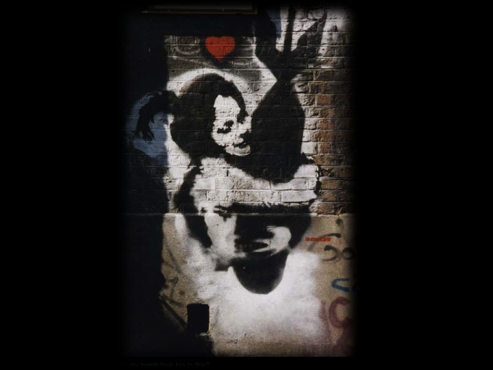 Banksy's 'Bomb Hugger'