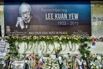 High Street Centre commemorations to Lee Kuan Yew, Singapore's first prime minister.