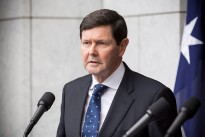Minister for Defence the Hon. Kevin Andrews MP during the announcement of the next phase of Australia's contribution to the international Building Partner Capacity (BPC) mission in Iraq at Parliament House, Canberra.
