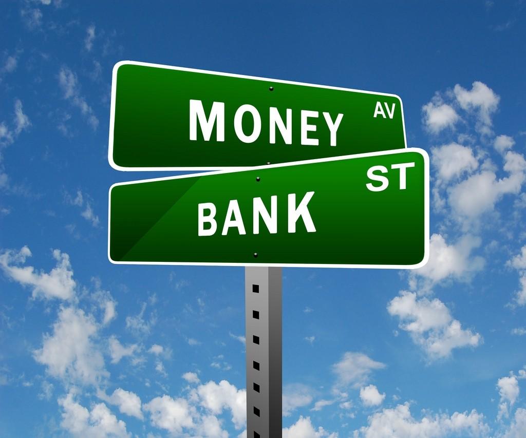 Money street sign