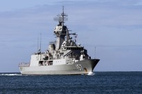 June 28, 2012: Anzac Class frigate HMAS PERTH [III] arrives at Pearl Harbour for Exercise RIMPAC 2012 - Jon Dasbach, USN.