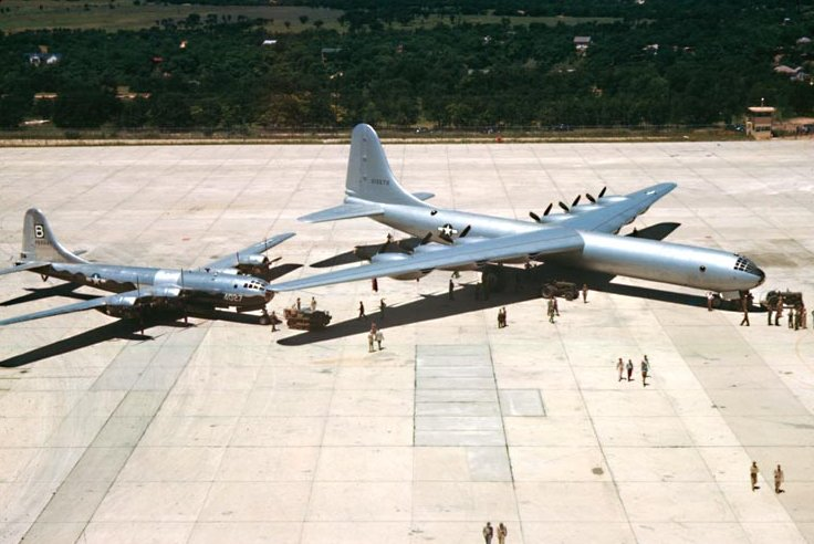 Arrival of the first B-36A at Carswell AFB, Ft. Worth, Texas, June 1948