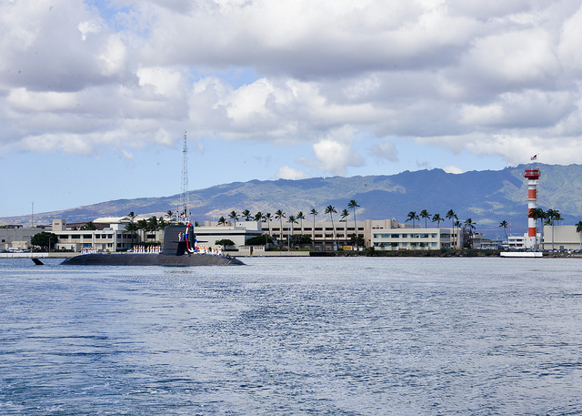 The Japan Maritime Self-Defense Force (JMSDF) submarine JDS Unryu (SS 502) arrives in Hawaii for a routine port visit