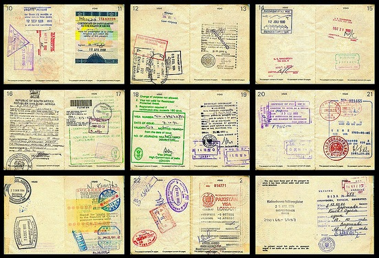 Selected Passport Pages