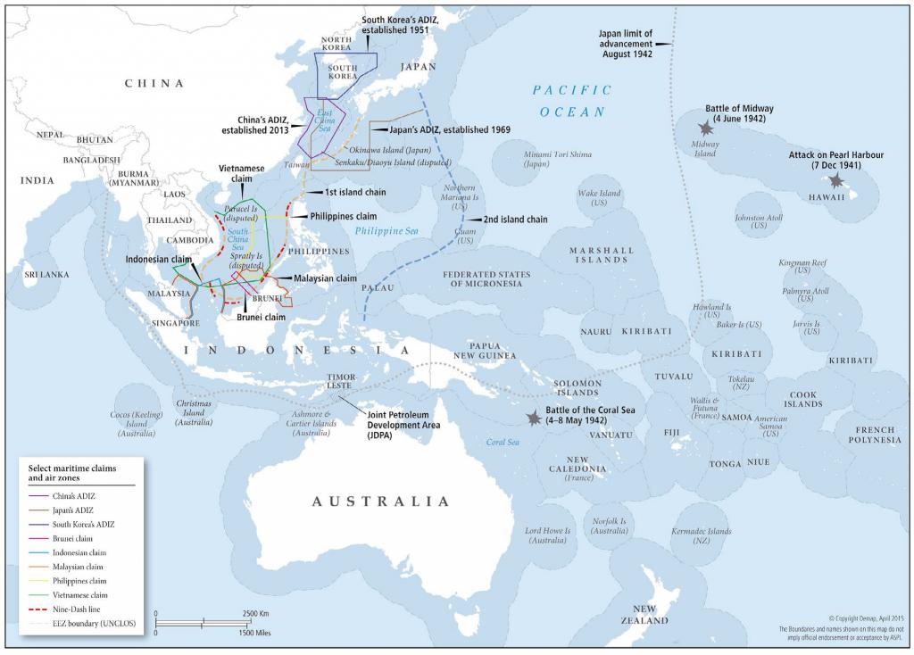 Map: Oceania in its broader geostrategic setting